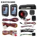 EASYGUARD автосигнализация Автомобильная сигнализация большой ЖК-пейджер дисплей Авто 2 Way старт стоп таймер режим шок/Вибрация сигнализация Ун...
