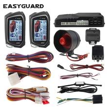EASYGUARD 2 Way Car Alarm System big LCD Pager Display auto
