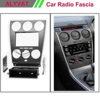 Car Radio Fascia Frame Panel for MAZDA 6 Atenza (PCB for Manual Air Conditioning) Dash Facia Trim Surround CD Installation Kit