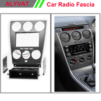 Car Radio Fascia Frame Panel for MAZDA 6 Atenza (PCB for Manual Air Conditioning) Dash Facia Trim Surround CD Installation Kit
