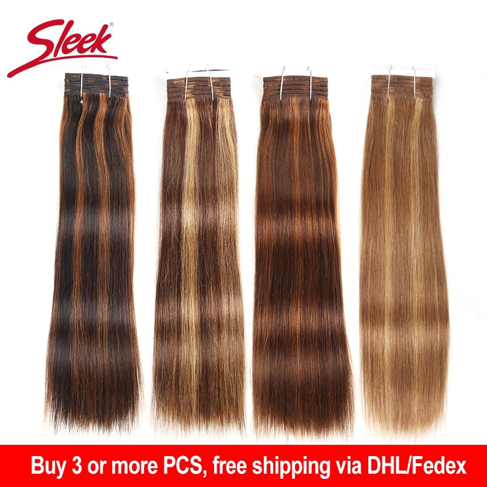 Sleek Brazilian Hair Weave Bundles Silky Straight Human Hair Extension 1 Pc Remy Brazilian Straight Hair Bundles