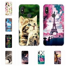 For Xiaomi Redmi Note 6 Pro Case Soft TPU Silicone Cover Cartoon Pattern Bag