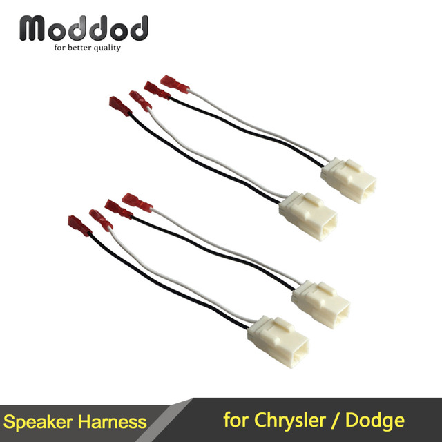 1 or 2 pairs cable for chrysler dodge speaker wire harness adapter  connector plug