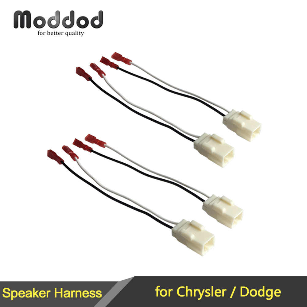 1 or 2 pairs cable for chrysler dodge speaker wire harness adapter connector plug jvc car stereo wiring harness dodge wiring harness connectors #12