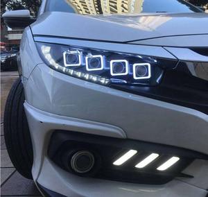 Image 5 - 2016 2017 2018y Car Styling per honda Civic Faro accessori auto HID allo xeno/LED della nebbia di DRL per Civic faro