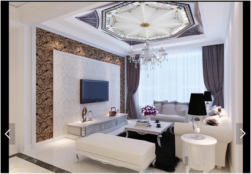 Photo Wallpaper Custom Ceiling Murals 3 D Roof Hd Map Wall Paper Living Room In Wallpapers From Home Improvement On