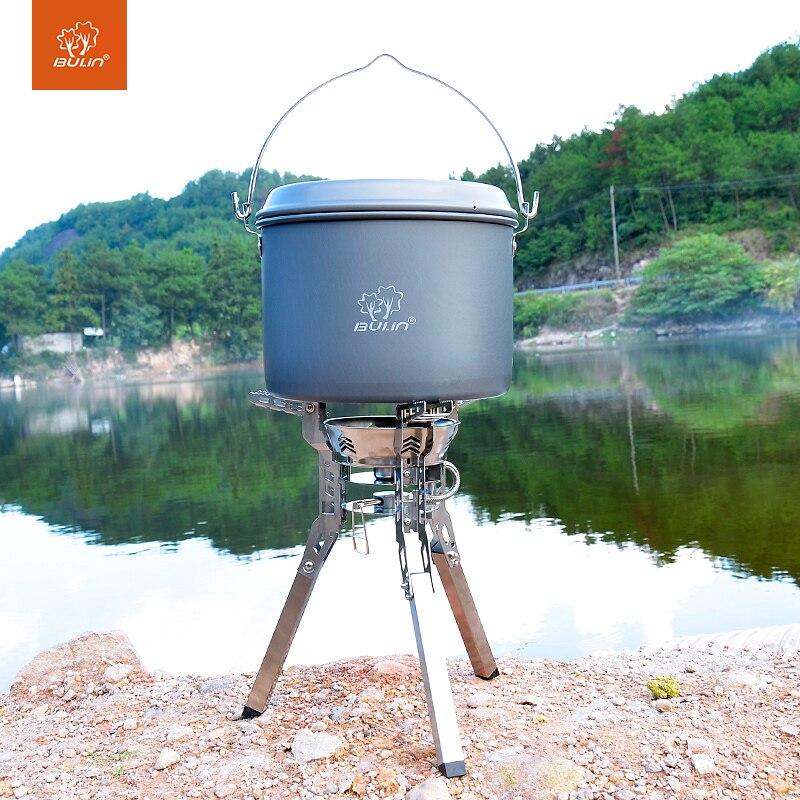 Bulin BL100 B16 3800 W Split cuisinière à gaz Portable randonnée pique-nique cuisinière pliable Split cuisinière à gaz en plein air barbecue équipement de Camping - 2
