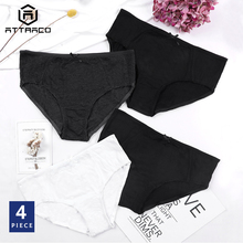 ATTRACO Womens Panties Underwear Hipster 4 Packs Cotton Soft Stretch Cozy Mid Waist Ladies High Quality Hot Sale