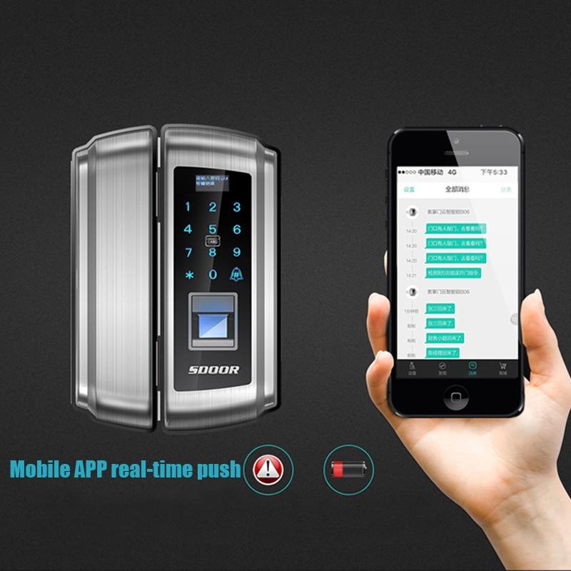 Office Quot Double Open Quot Glass Door Fingerprint Lock Mobile