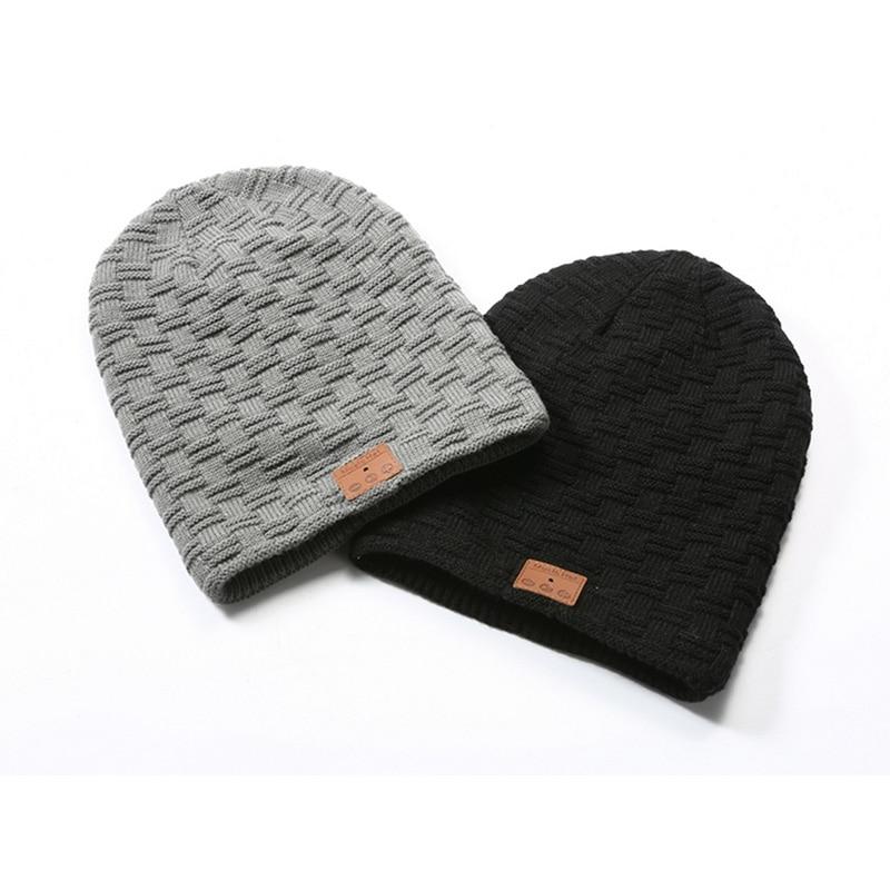 149f8519ddae0 2018 New Wireless Bluetooth Headphone Hat Winter Plus Velvet Cap Outdoor  Sport Beanie Hat Music Bluetooth Hat Headset Warm Cap