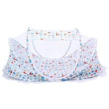 Summer Foldable Mosquito Tent Home Travel Cradle Bed for Baby Child-White