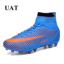 Купить с кэшбэком EUR 39-46,Newest 2016 superfly football boots long spikes & TF soccer cleats botas de futbol original soccer shoes men sneakers