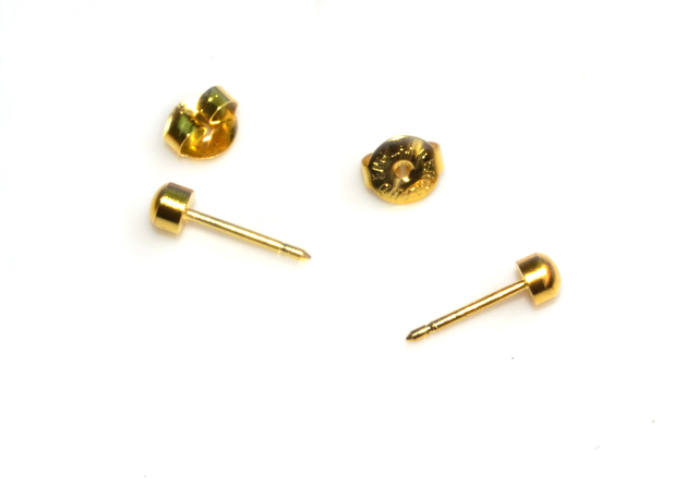 Gold Pierce Ears Pierced Ear Stud Earring Fit Used In Piercing Gun 4mm Hot New
