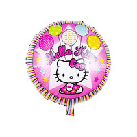 25pcs/lot 18inch hello kitty aluminum foil ballon round shape mylar baloes for party decoration globos inflatable balloon