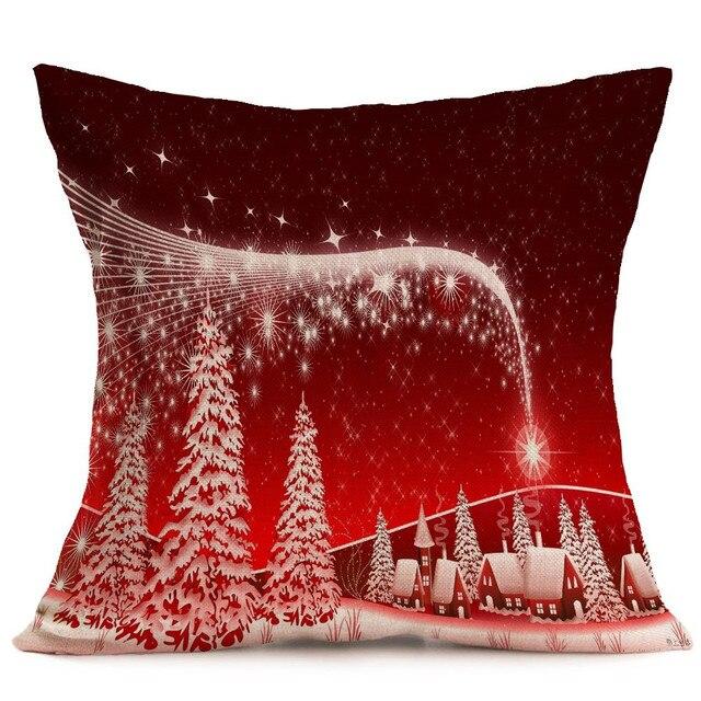 US $1.94 32% di SCONTO|Rosso Di Natale Cuscini Home Decor Stile Scandinavo  Divano Letto Home Decor Pillow Case Cuscino almofadas para divano in Rosso  ...