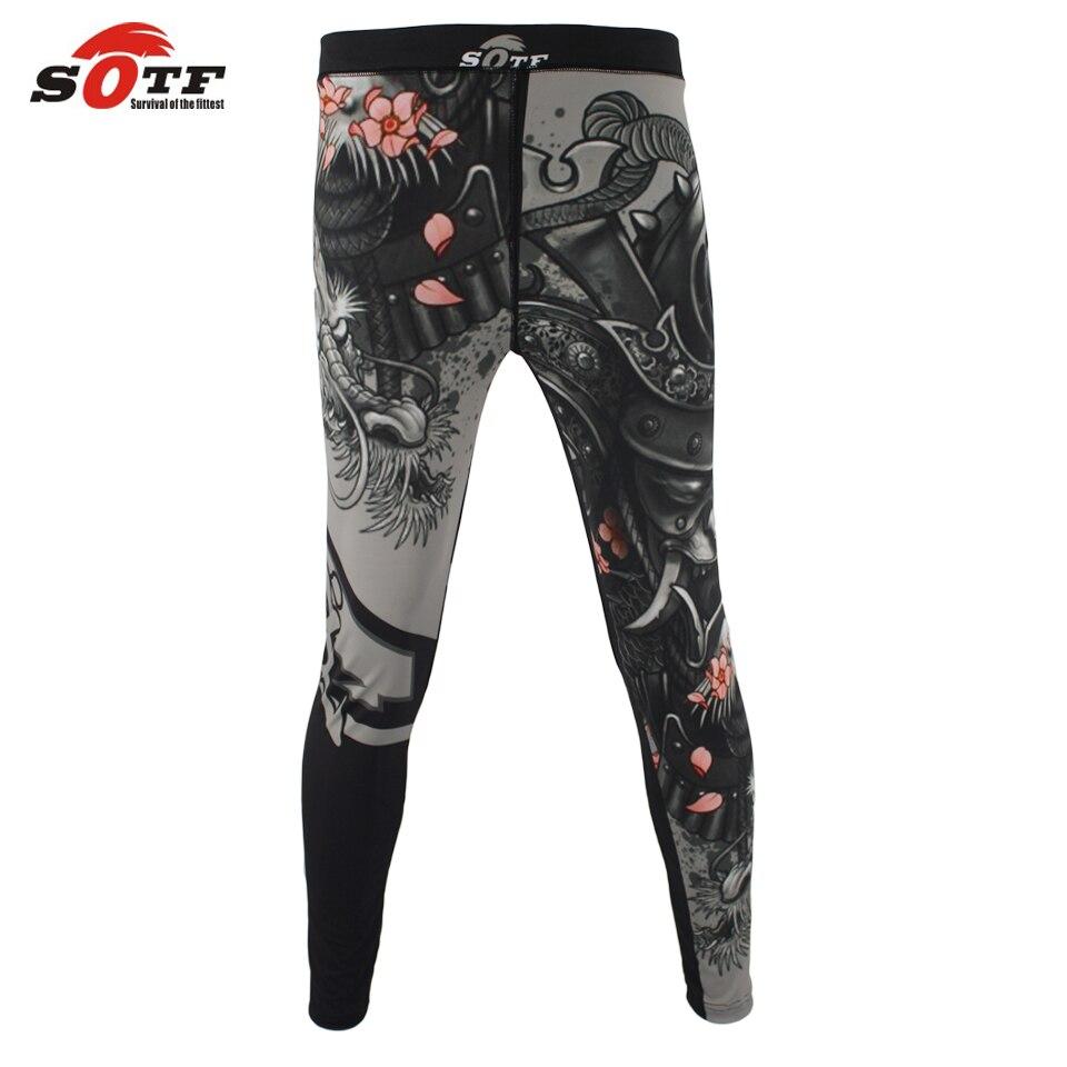 SOTF MMA de boxe de sport fitness personnalité respirant lâche grande taille shorts Thai poing pantalon de course combats kickboxing shorts
