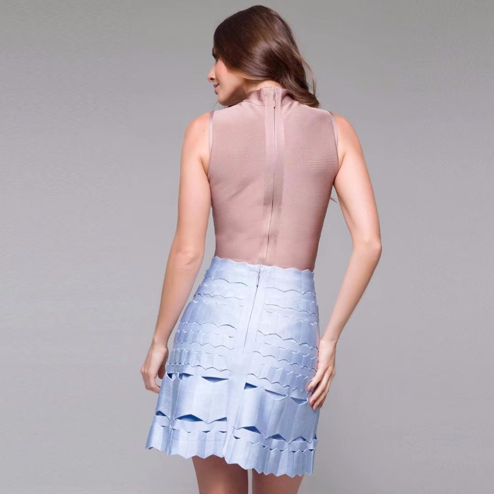 Blue Ahueca Holesale China Mini Falda Casual Caliente Hacia Línea Una Party Barato Aliexpress Verano Fuera Dropship Mujeres Baby Bandage vYvCp4q