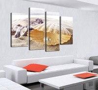 4 Panele Ogromne HD Piękne Rozgwiazdy Shell najlepiej oceniane Zdjęcia Ścienny Do Salonu Home Decor Wall Art Canvas modułowa Zdjęcia
