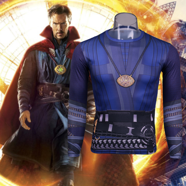 Dr. Fantastic Costume T-shirt Super Hero Doctor Strange Sports 3D  Fitness Speed Drying Clothes