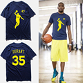 Fashion brand clothing t shirt men KD No.35 kevin durant basketbal jersey blue short sleeves 100% cotton combed t shirts,tx2348