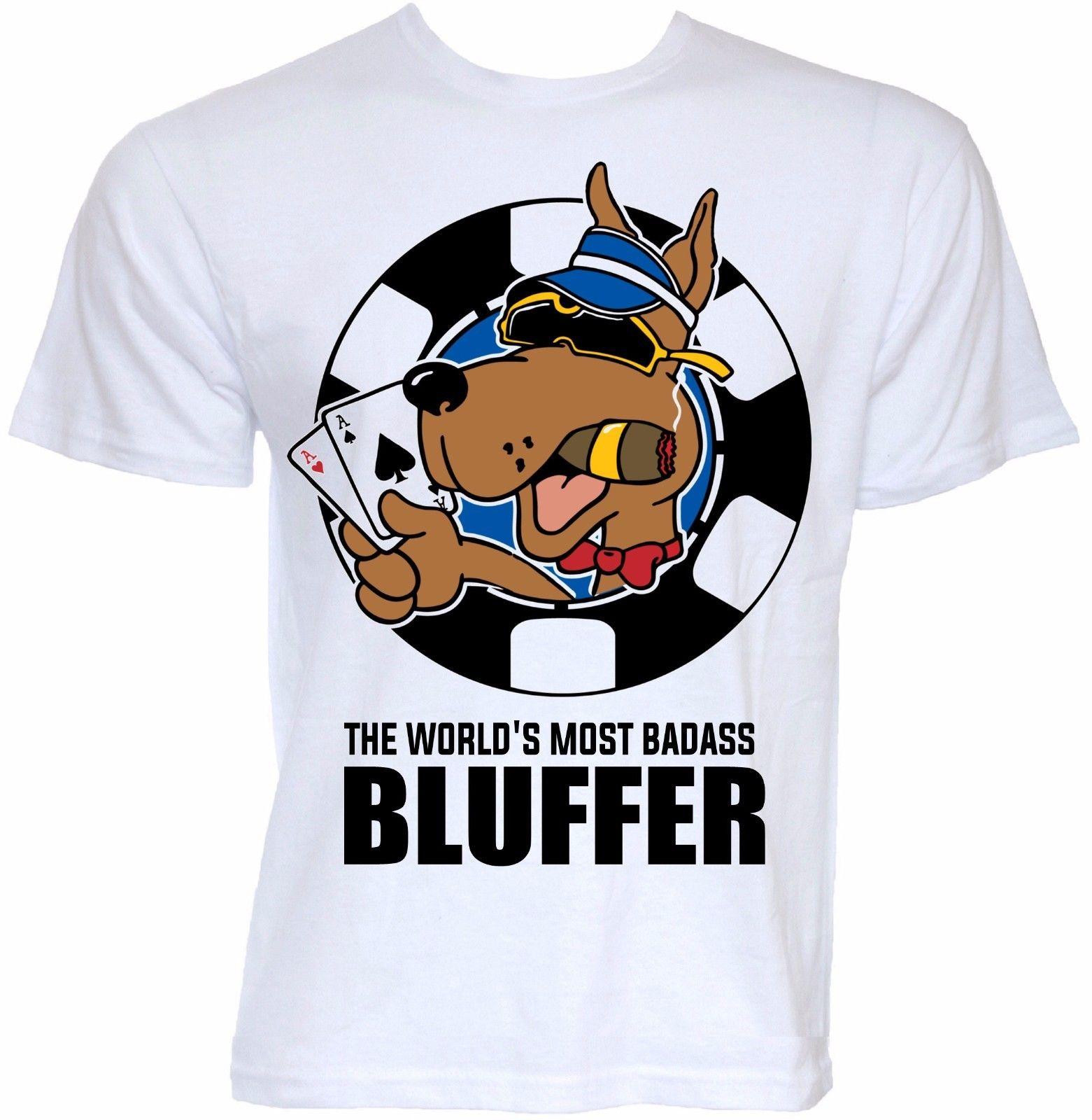 MENS FUNNY COOL NOVELTY PRO POKER DOG CHIPS JOKE SLOGAN T-SHIRTS STYLISH GIFTS 100% Cotton Fashion T Shirts Top Tee ...