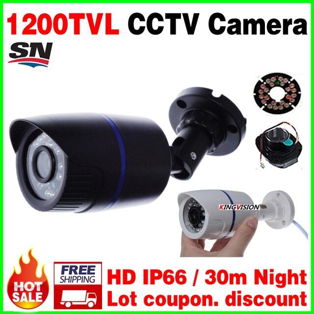 BigSale реального 1200TVL 1/3 cmos Видеонаблюдения Видео Открытый Водонепроницаемый IP66 CCTV Аналоговые Камеры hd инфракрасного Ночного Видения 30 м