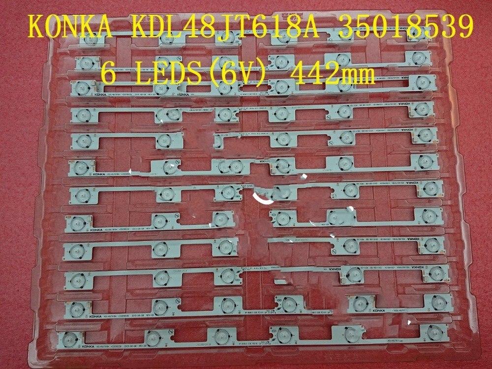0-80 шт./лот светодиодные полосы бар огни работает для KDL48JT618U KDL48JT618A 35018539 35018540 35018541 6 светодиодов * 6 в 44,2 см смотреть на Алиэкспресс Иркутск в рублях