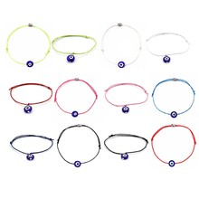 1Pcs New Adjustable Red Thread Rope Bracelet oven Bracelet Boho Evil Of Eye Blue Stone Jewelry(China)