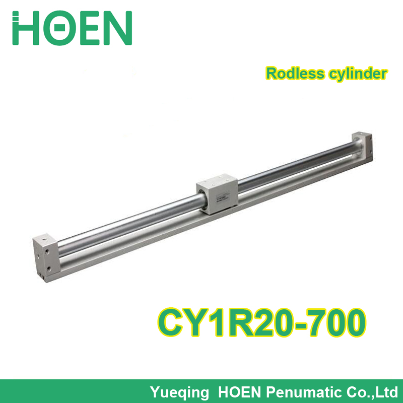 CY1R20-700 SMC type Rodless cylinder 20mm bore 700mm stroke high pressure pneumatic cylinder CY1R CY3R series CY1R20*700 high quality double acting pneumatic gripper mhy2 25d smc type 180 degree angular style air cylinder aluminium clamps