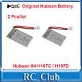 2 Unids/lote 3.7 V 380 mAh li-po Batería para Hubsan X4 H107D/H107C/JJRC H6C Repuesto partes