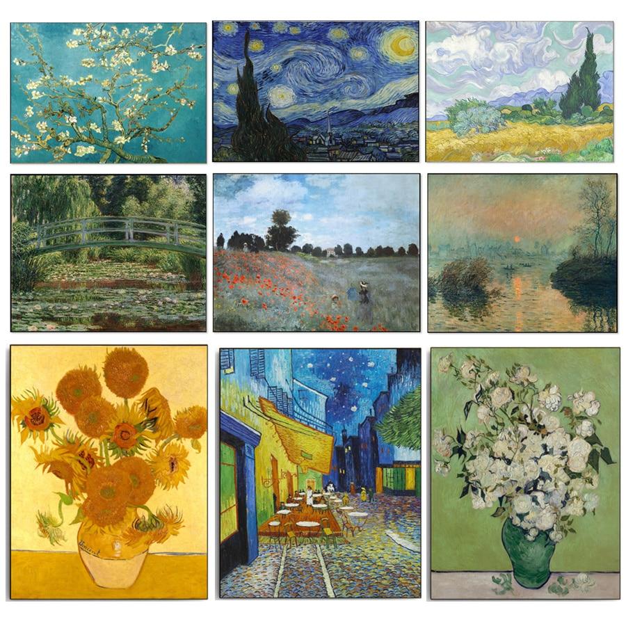 Suficiente Abstrata da Lona Pintura A Óleo HD Imprimir Famosa Van Gogh Monet  MC08