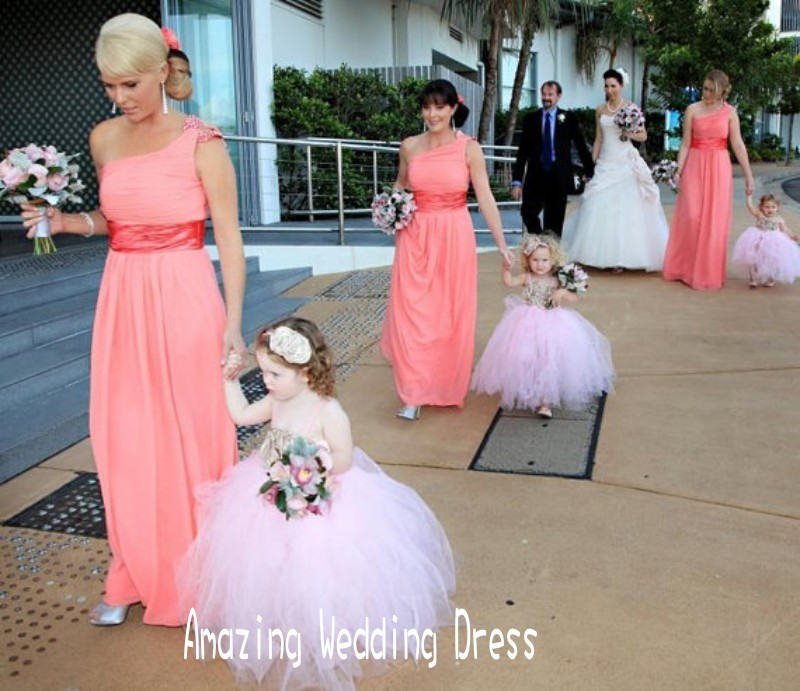 2014 Western Cute Style Little Girls\' Strapless Tea Length Puffy ...
