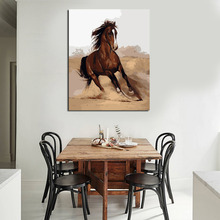 Running Horse Painting By Numbers On Canvas DIY