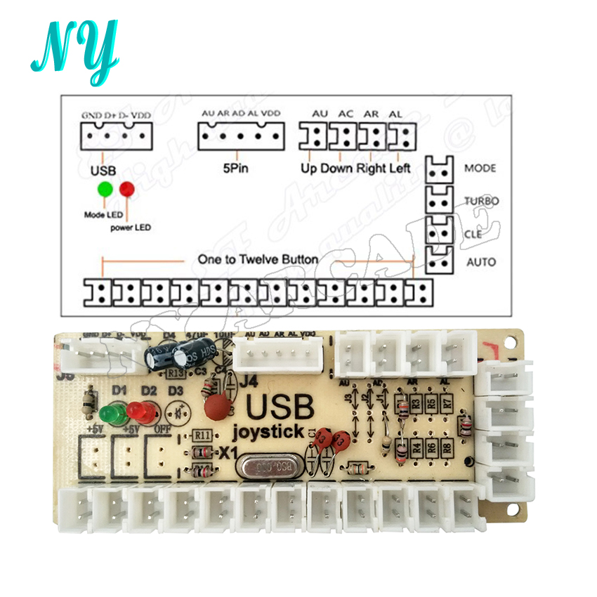 Zero Delay Arcade USB Encoder PC to Joystick Push Buttons Arcade ...