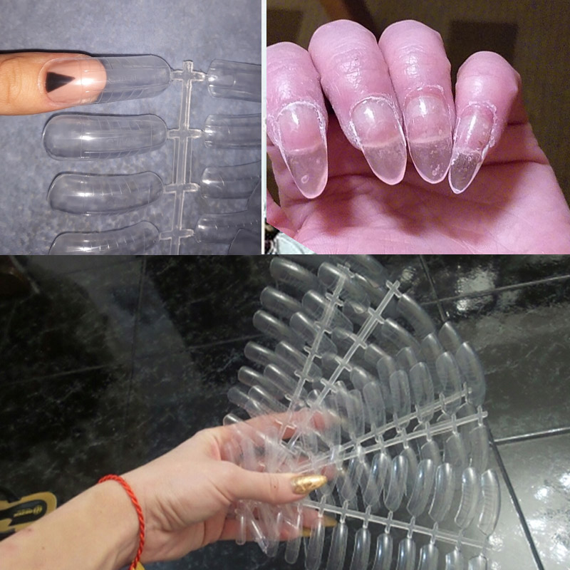 Poly Gel Quick Building Nail Mold Dual Forms Tips Clip Finger Extension Nail Art UV Builder Gel Tool in False Nails from Beauty Health