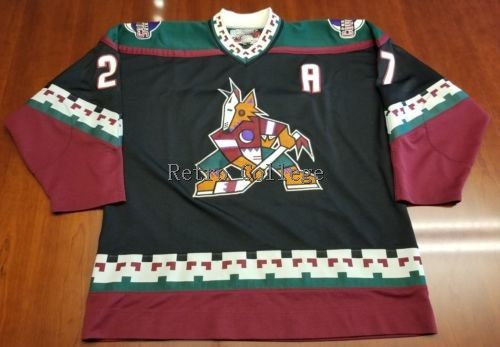 Phoenix Coyotes #27 Teppo Numminen MENS Hockey Jersey Embroidery Stitched Customize any number and name Jerseys