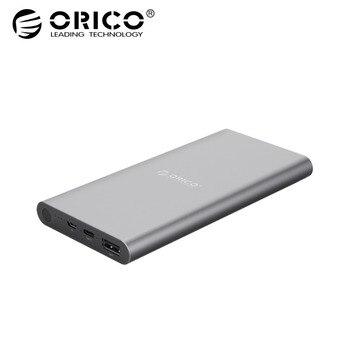 ORICO T1 10000 mAh banco de energía tipo C salida doble cargador rápido para Samsung Xiaomi Huawei