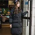 Plus Size Women Parkas Warm X-Long Winter Jackets And Coats For Female Thicken Casacos Jaqueta Feminine Black Coat A2479