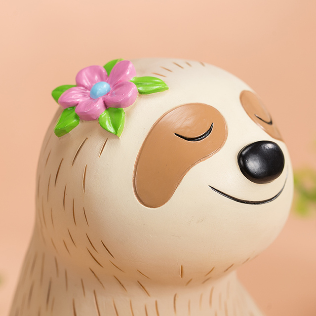 Cute little sloth child piggy bank 2