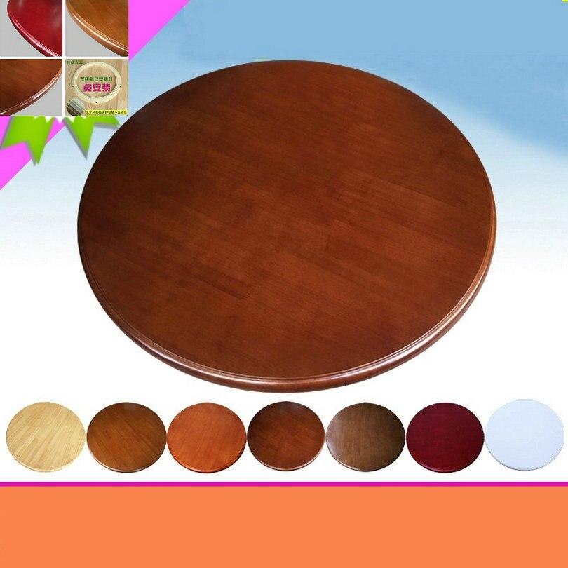 HQ WL2 80 CM/32 pouces Dia chêne massif bois paresseux Susan Table à manger plaque pivotante