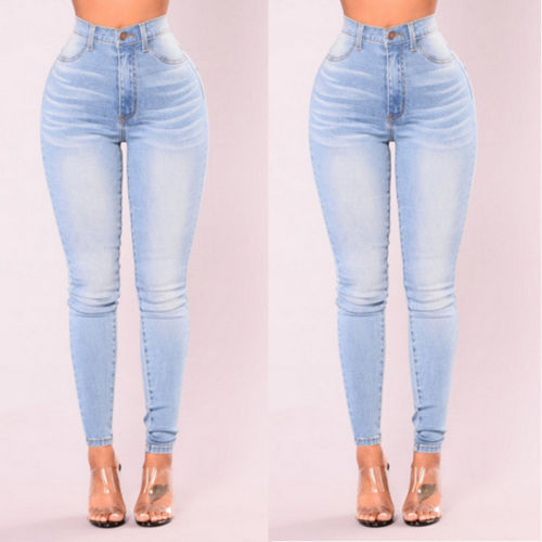 Women Lady Denim Skinny Pants High Waist Stretch Jeans Slim Pencil Jeans Women Casual Jeans 4