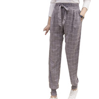 2017 autumn and winter small feet Haren pants casual pants Korean version pants repair thin loose