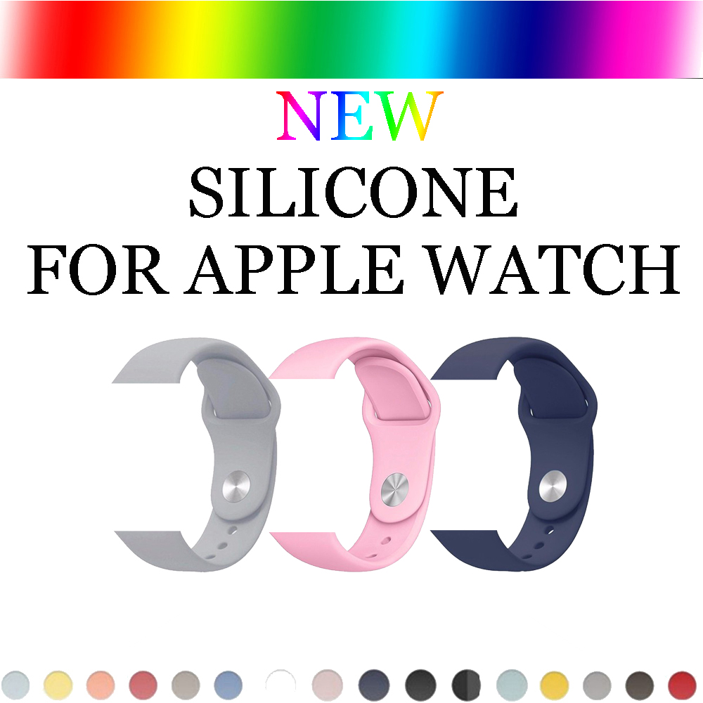 Sport Silicone band strap For Apple Watch bands 42 mm 38mm Rubber bracelet watchband black white strap for Iwatch series 3/2/1 цена