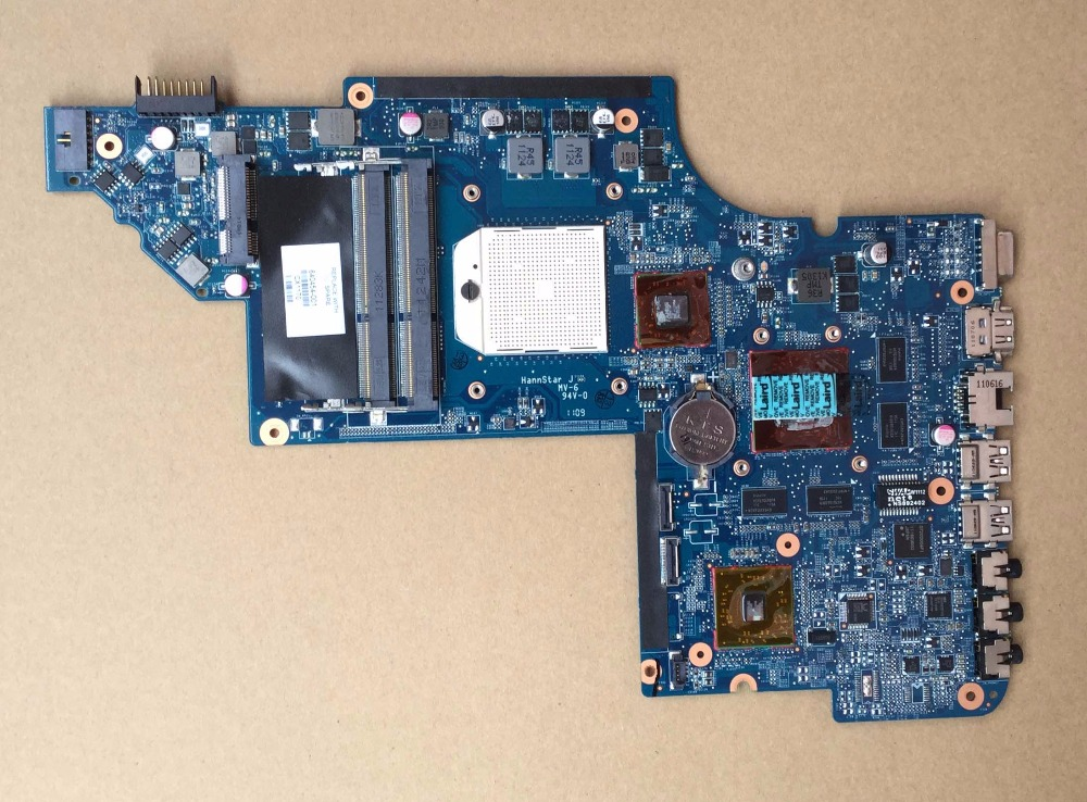 laptop motherboard for HP DV6 DV6-6000 series 640454-001 AMD NON-INTEGRATED AMD Radeon HD 6470M DDR3 dv6 3000 non integrated motherboard for h p laptop dv6 3000 595133 001