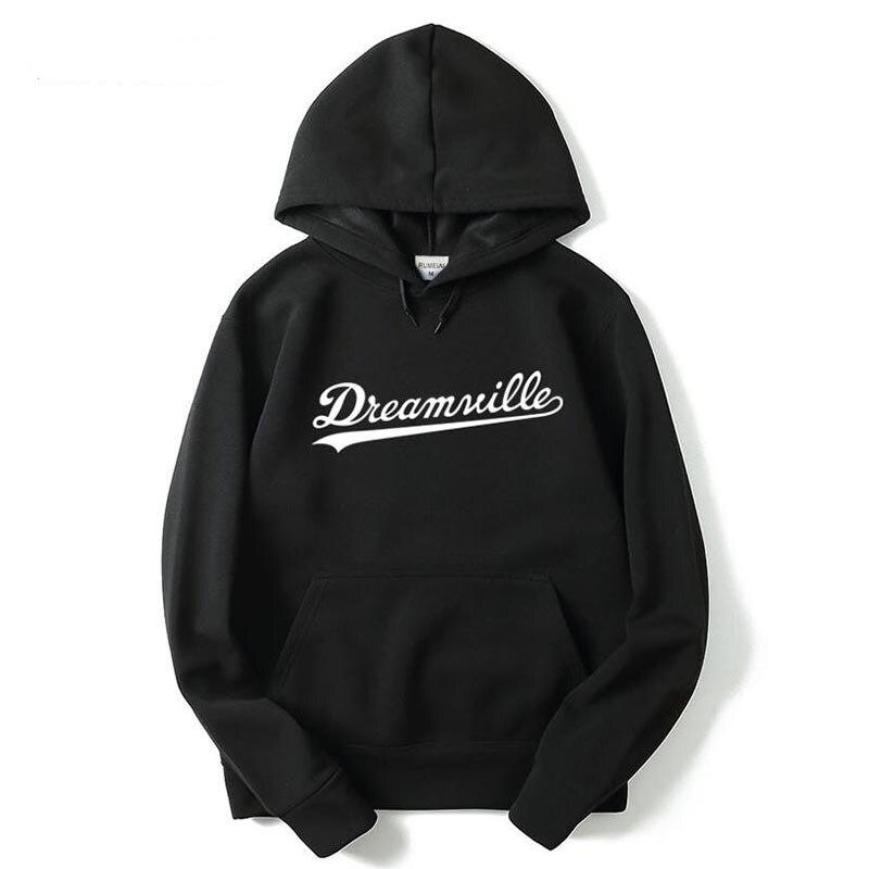 2017 nouveau Dreamville Records Hoodies Sudaderas Hombre homme sweat à capuche noir/gris coton survêtement marque vêtements