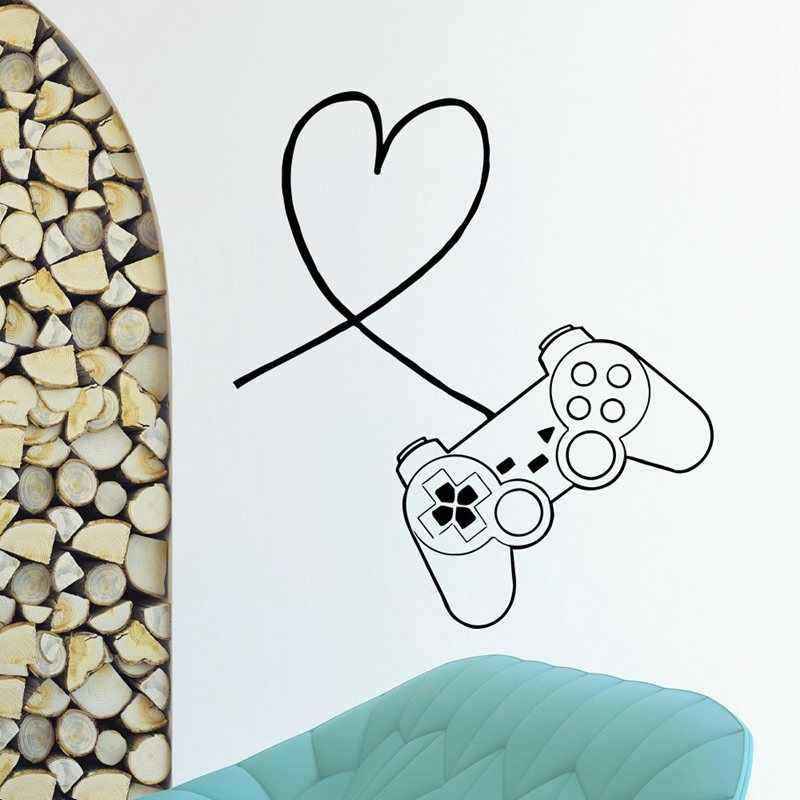 Video Game Controller Sticker Play Decal Gaming Posters Gamer Vinyl Wall Decals Parede Decor Mural Video Game Sticker