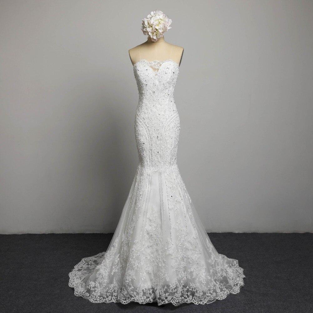 Sexig Stroplös Beading Snörning Vestidos De Novia Off Shoulder - Bröllopsklänningar - Foto 1