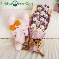 Bebecocoon Cute Mini 12cm Rabbit Fur Key Chain Women Trinket Bunny Toy Doll Bag Car 4