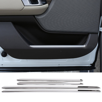 304 Stainless Steel Car Door Decoration Strip Trim Cover For Land Rover Range Rover Vogue L405 2018 Auto Interior Accessories