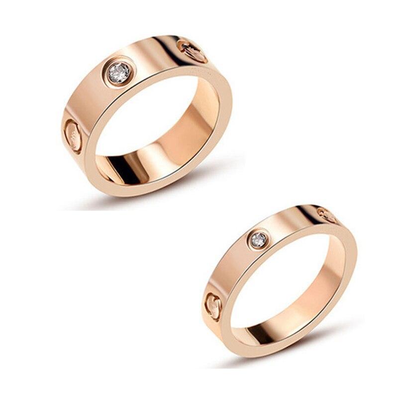 Wedding-Jewelry Ring-Gift Couple Love-Rings Titanium Steel Wholesale Women Screw--Carter